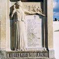 Monument aux morts : cimetière des Blaches