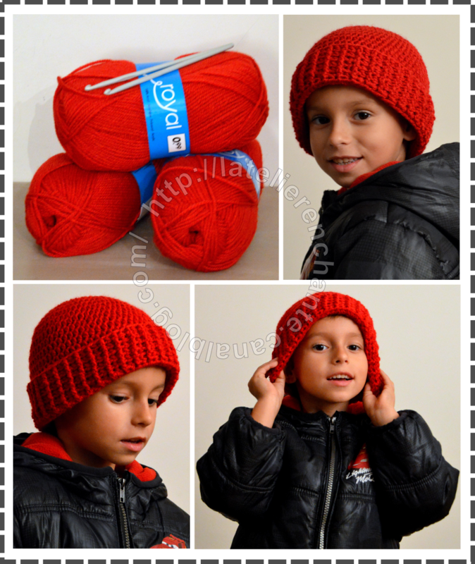 Bonnet enfant crochet