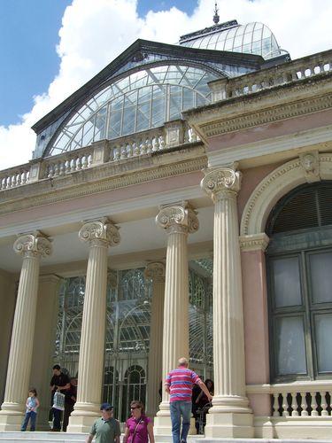 Madrid-Parque del Buen Retiro - palacio de cristal entrée