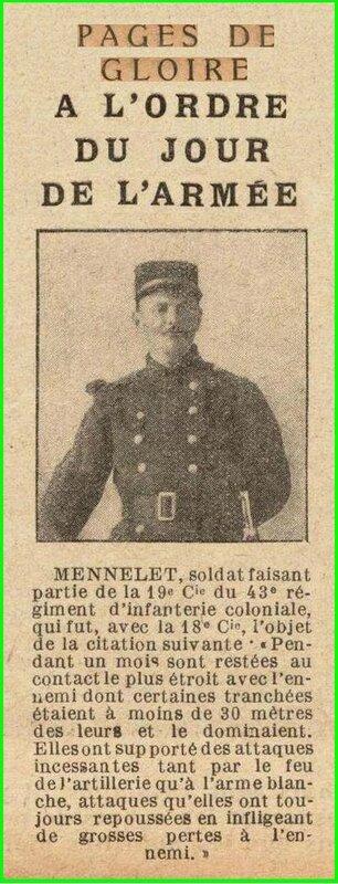 MENNELET pages de gloire 1915 04 25