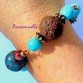 bracelet ethnique fimo perle cane bulle