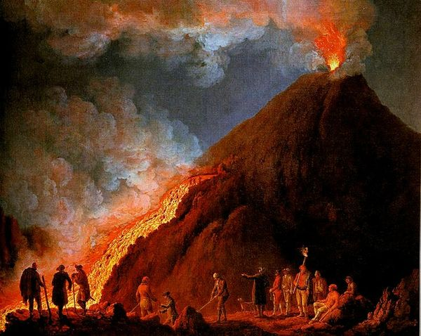 Jakob Philipp Hackert,Eruption du Vesuve 1774