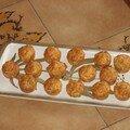 Petits muffins au jambon et aux olives vertes