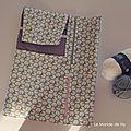 Pochette de rangement pour aiguilles à tricoter