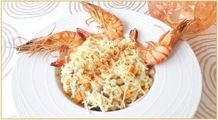 risotto légumes et crevettes10
