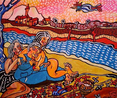 MATTEI La bonne rencontre du pécheur 2009 38 x 46