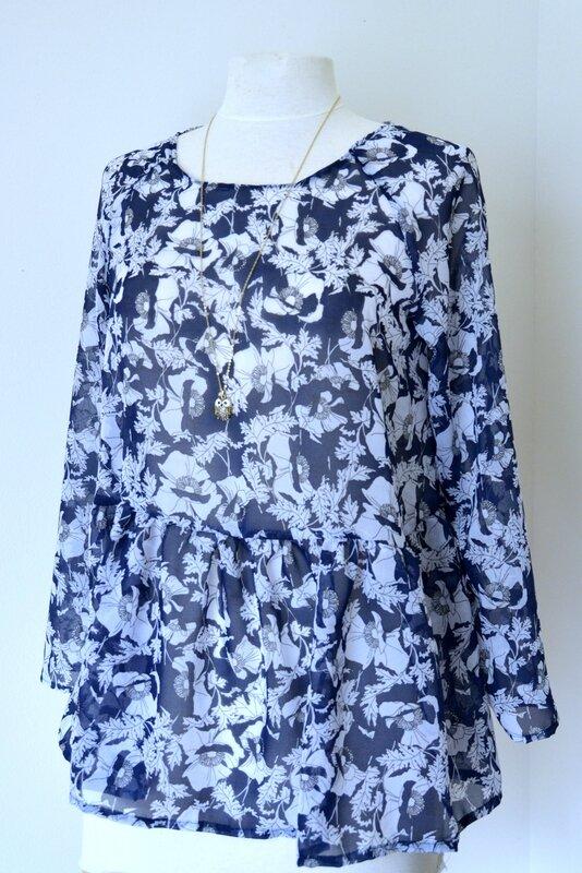 blouse Marthe bleue