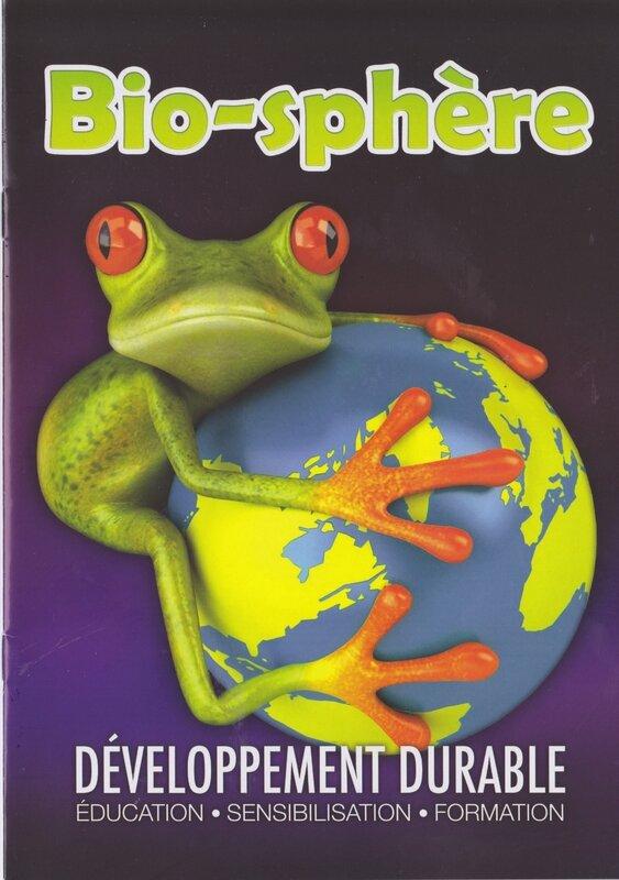 Bio-sphère couverture plaquette
