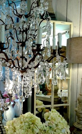 lustre cage pampilles