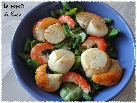 Salade aux St Jacques