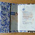 13. taupe à pois blancs, liberty bleu - intérieur