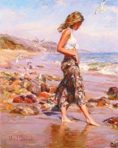 Garmash Michael Inessa toes in the sand