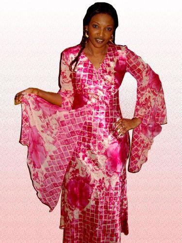modèle couture senegalaise soie