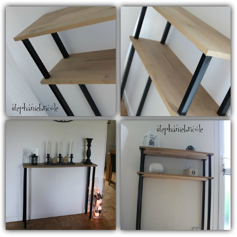 diy d co faire un meuble console au style industriel soi. Black Bedroom Furniture Sets. Home Design Ideas
