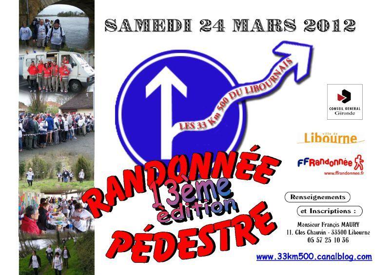 Affiche 33km500 2012
