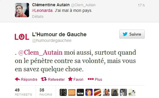 hollande ps humour clementine autain