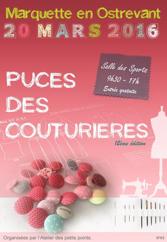 affiche puce couturiere