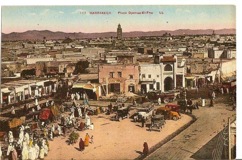 117LL-03 + 17 MARRAKECH Place Djemaa El Fna LL