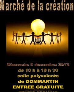 Affiche marché de la création Dommartin