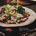 Salade chaude de pois chiches au chou de savoie