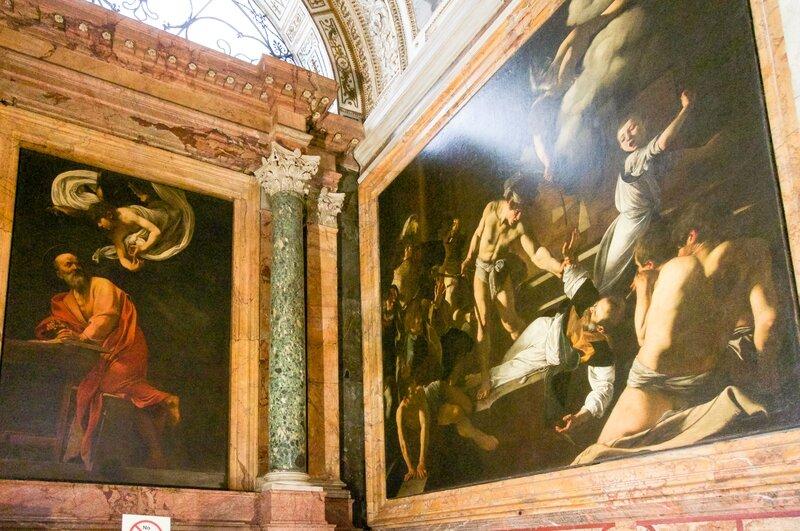 rome1 029Saint Matthieu et l'ange - Le martyre de Saint Matthieu