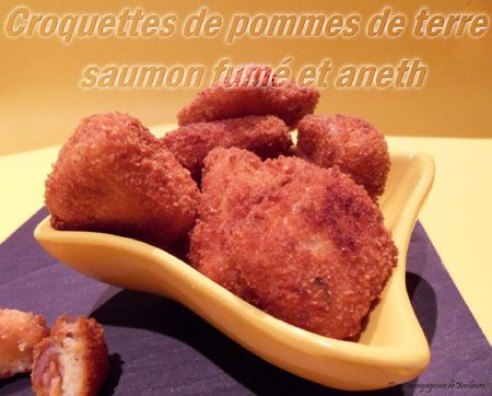 croquettes de pommes de terre saumon fume aneth recettes voyageuses de barbara. Black Bedroom Furniture Sets. Home Design Ideas