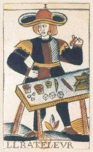 Tarot NOBLET Bateleur Paris ca 1650 cliché BNF