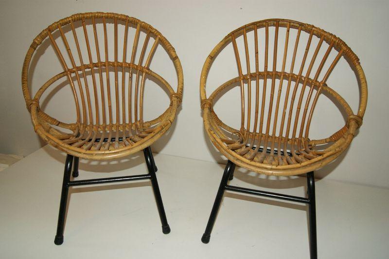 fauteuil enfant rotin ann es 50 vintage kinderzeteltjes vintage goldies. Black Bedroom Furniture Sets. Home Design Ideas