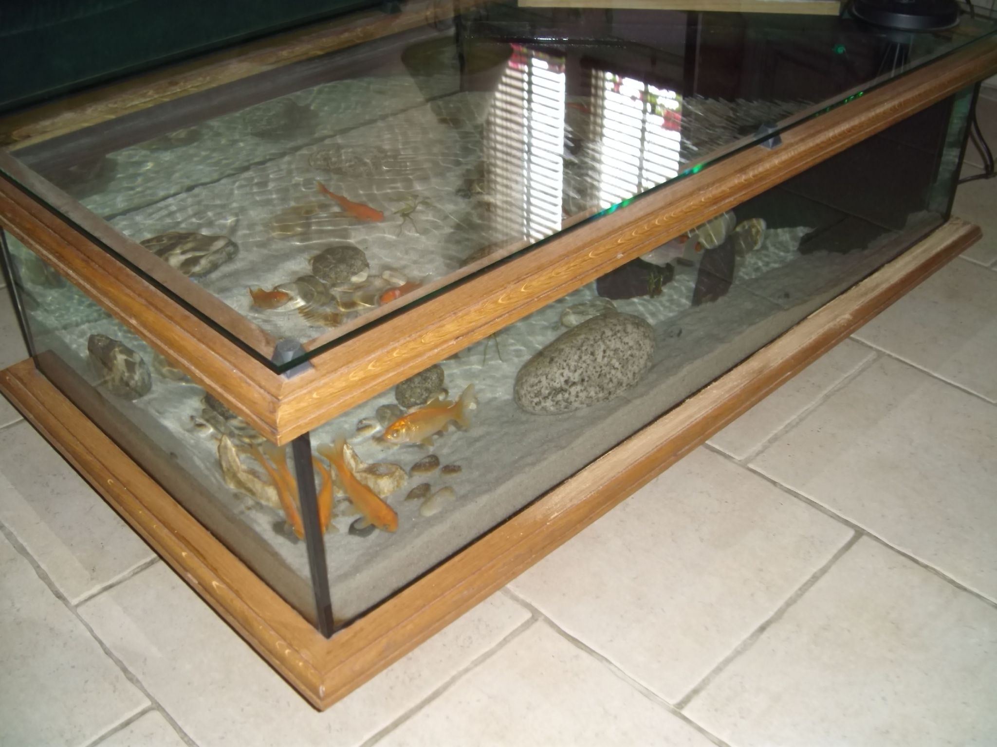table basse en aquarium. Black Bedroom Furniture Sets. Home Design Ideas