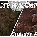 Boeuf mijoté façon christy (cookéo, orva)