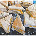 Mini club sandwich à la crème de poulet