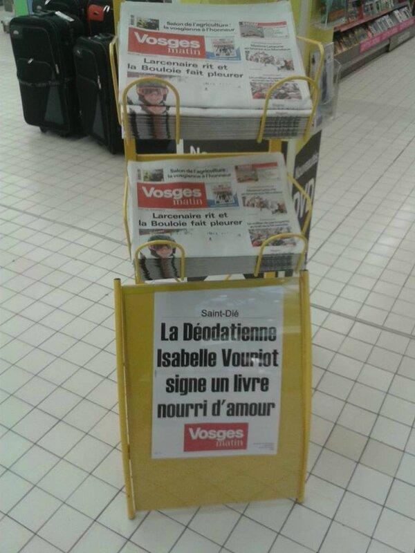 Une du journal Vosges Matin
