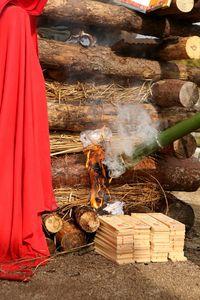Allumer le feu d'après photo officielle Temple de Kobé 1000