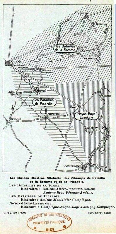 Guide michelin bataille de la somme et Picardie