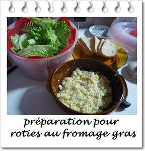 roties au fromage gras