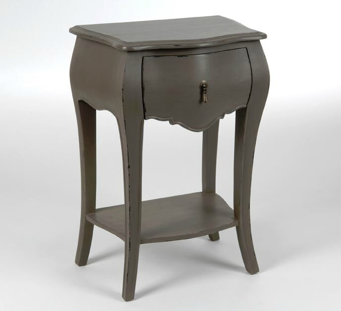 table de chevet taupe amadeus