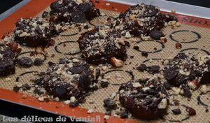 o delices de myriam, cookies, chocolat, noisettes