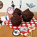 Cupcake chocolat van houten pour halloween (mais pas que...)