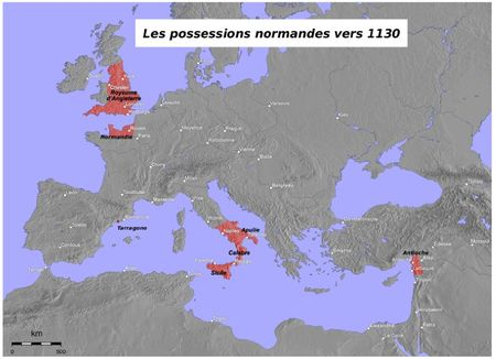 les possessions normandes vers 1130