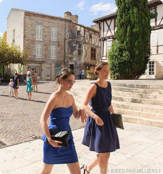 Robe dos nu bleue en soie - Mariage - Des Idées Par Milliers