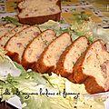 Cake salé aux allures savoyardes, oignons/ lardons /fromage ...