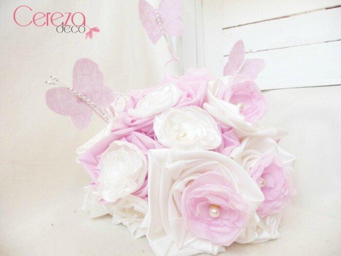 choisir son bouquet de mari e ivoire rose cereza l. Black Bedroom Furniture Sets. Home Design Ideas