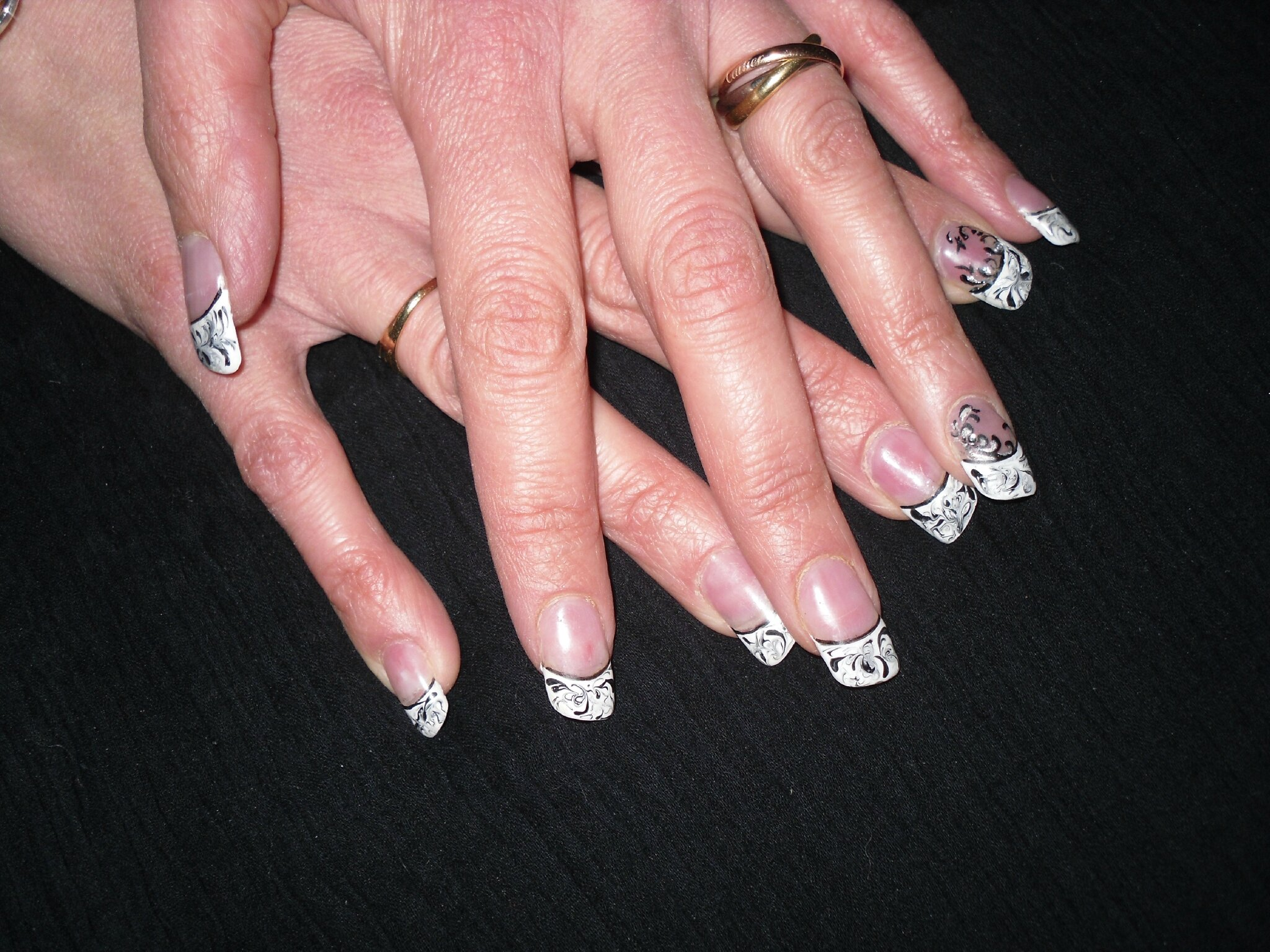 Pose D'ongles en Gel Avec French D'ongles en Gel French