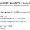 Billy lynn's long haltime walk: date de sortie du dvd en france