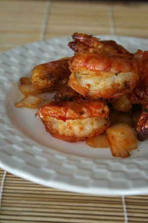 Gambas sautes 1