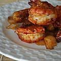 Gambas sautes sucr-sal aux pices China Wok