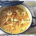 Colombo de crevettes et patate douce (390 cal/ par personne)