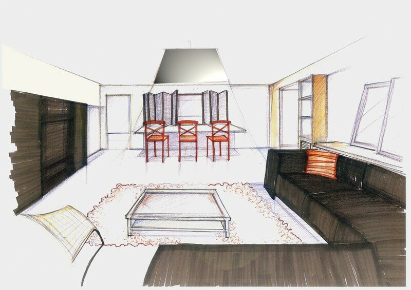 Dessin chambre perspective for Chambre en perspective