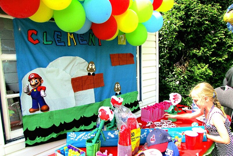 anniversaire th me mario bros pour les 6 ans de mon fils. Black Bedroom Furniture Sets. Home Design Ideas