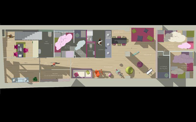 plan du rez de chaussee photo de micro cr che lyon archifloor architecte dplg lyon. Black Bedroom Furniture Sets. Home Design Ideas